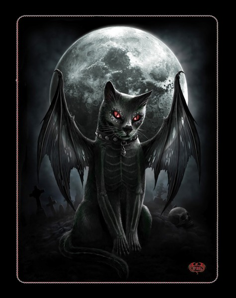 Vamp Cat - Fleece Blanket