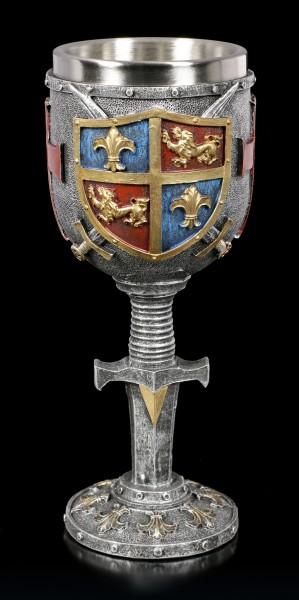 Mittelalter Kelch - Wappen - bunt