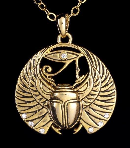 Halskette - Skarabäus und Auge des Horus