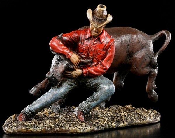 Cowboy Figur Rodeo - Stier Wrestling