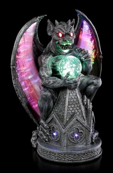 Gargoyle Figur auf Kathedrale mit LED