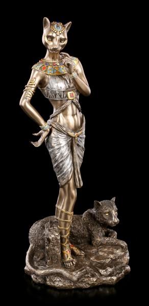 Bastet Figur - Altägyptische Göttin mit Panther