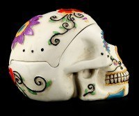White Skull Ashtray - Day Of The Dead