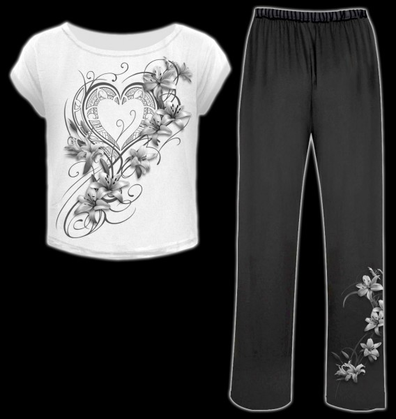 Pyjama Set 4 tlg. Gothic - Pure Of Heart