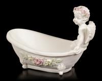 Engel Figur - Sitzend auf Badewanne