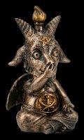 Three Wise Baphomet Figurines - No Evil