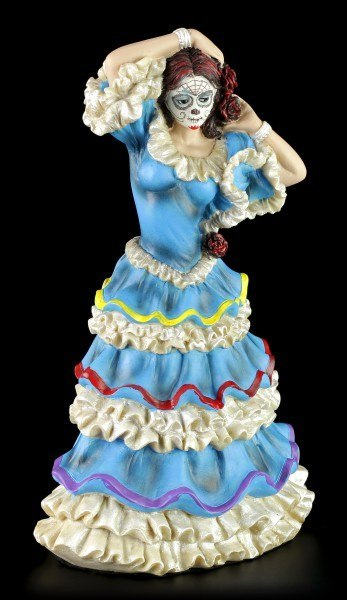 Flamenco Dancer - Day of the Dead - Blue