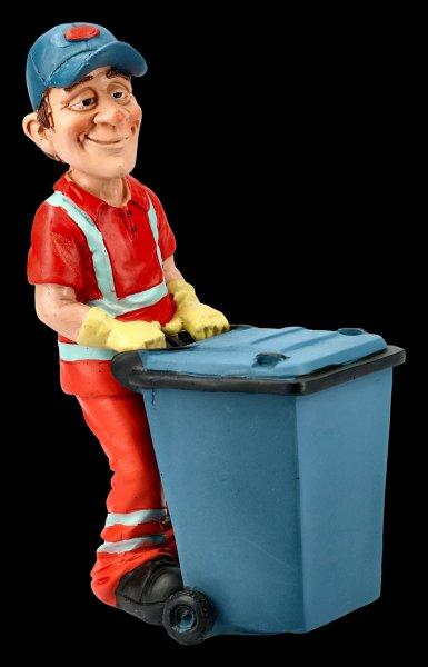 Funny Job Figur - Straßenkehrer mit Mülltonne