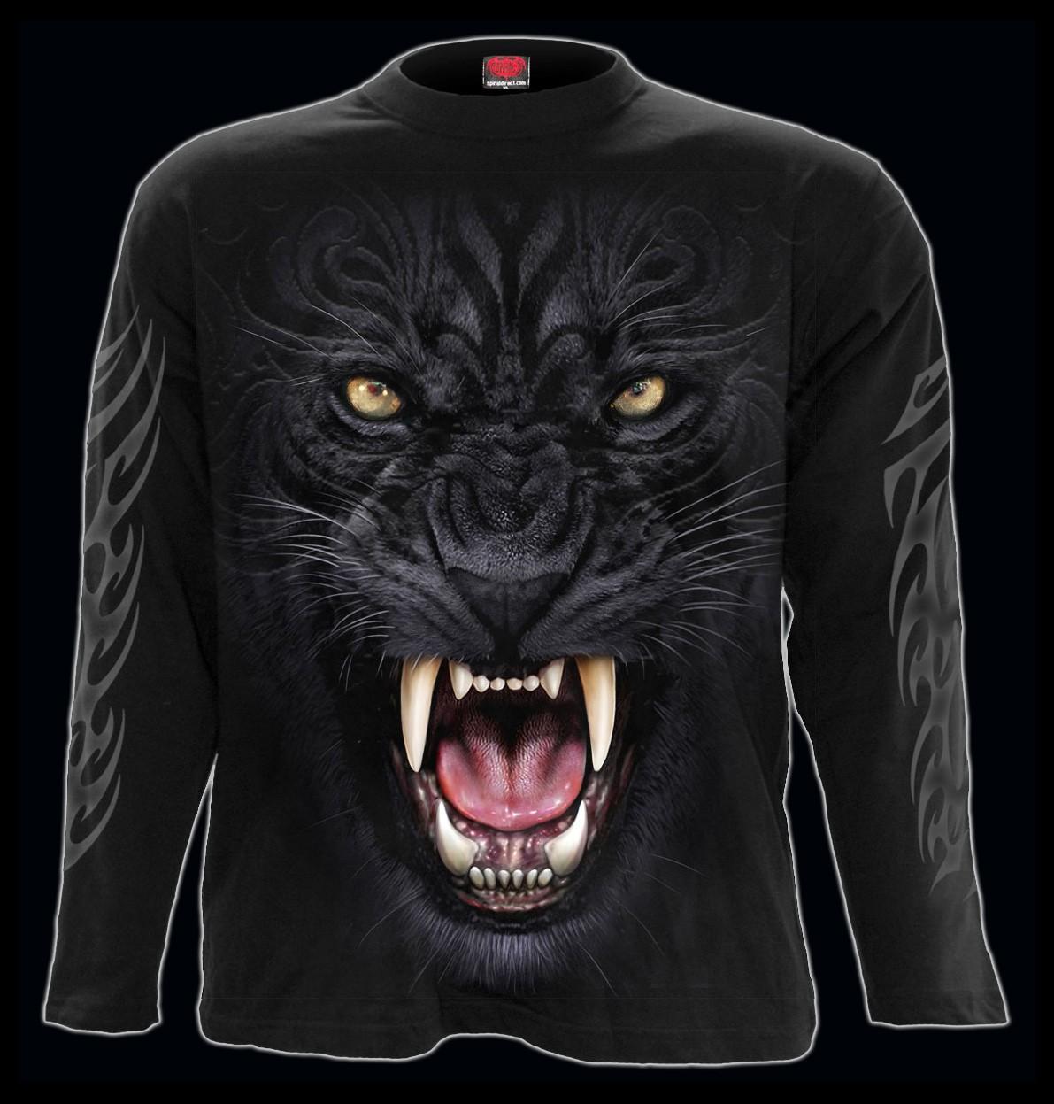 Spiral Gothic Langarmshirt - Tribal Panther