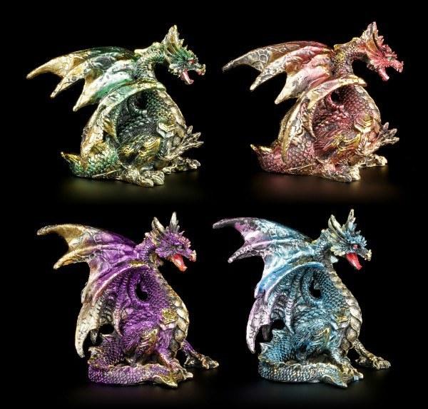 Drachen Figuren 4er Set - Wertvolle Flügel