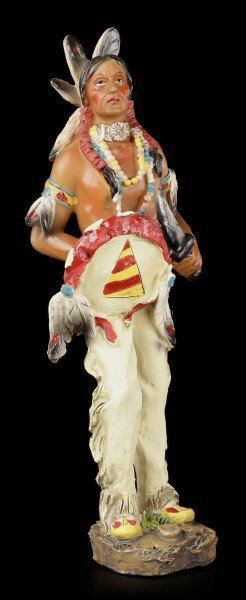 Indian Figurine - With Knife and Shield