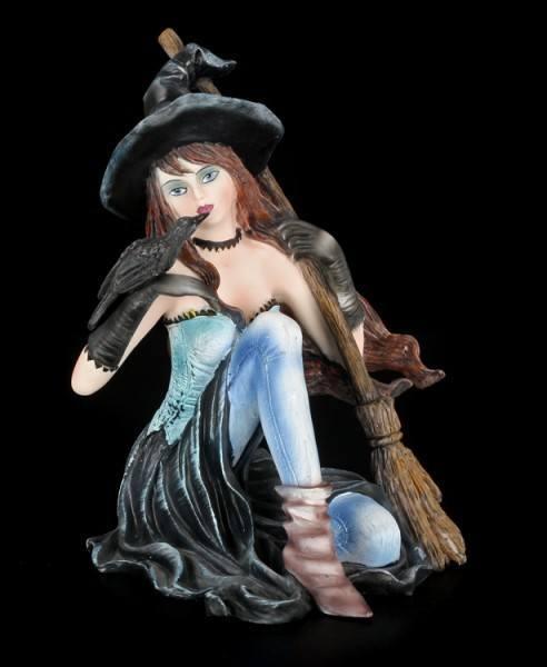 Hexen Figur - Ravenna mit Raben und Besen