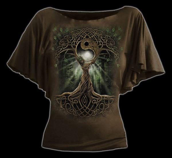Damen Shirt - Fantasy Lebensbaum - Oak Queen