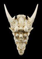 Wall Plaque - Dragon Skull with Ornaments