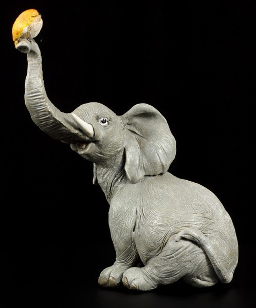 Elephant Figure - Trunky with Bird