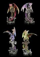 Drachen Figuren 4er Set - Grabesdiener