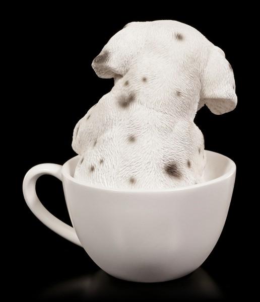 Hunde Figur - Dalmatiner Welpe in Tasse