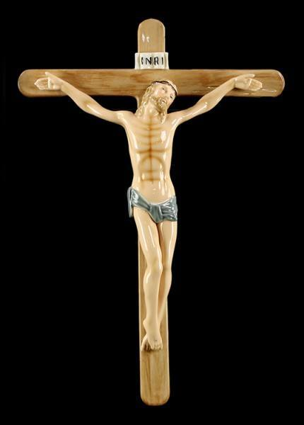 Porzellan Kruzifix - Jesus