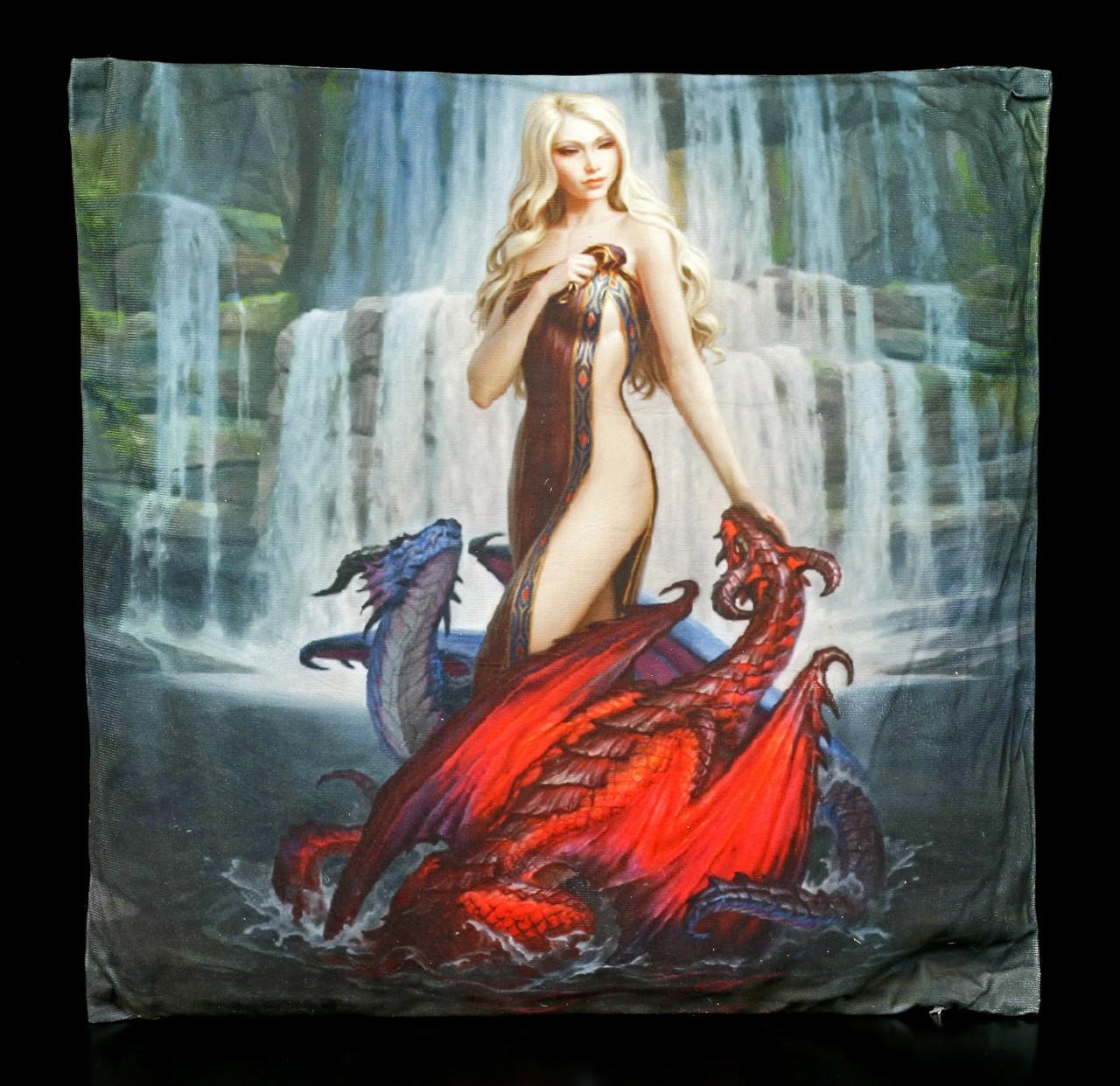 Kissen mit Drachen - Dragon Bathers