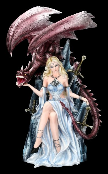 Dragon Queen Figurine on Throne