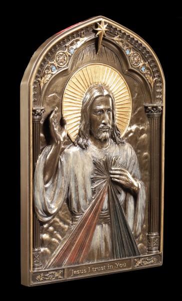 Wandrelief Ikone Jesus - Göttliche Barmherzigkeit