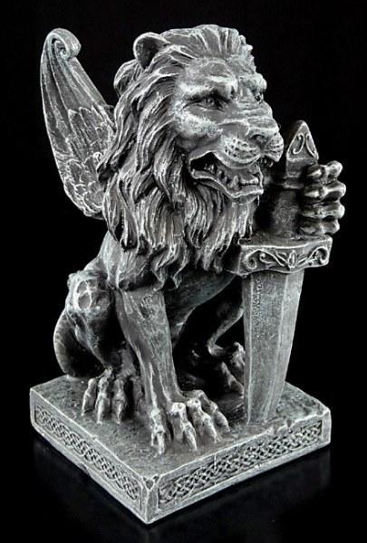 Geflügelter Löwe mit Schwert