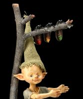 Pixie Goblin Figurine with Fireflies Traffic Light