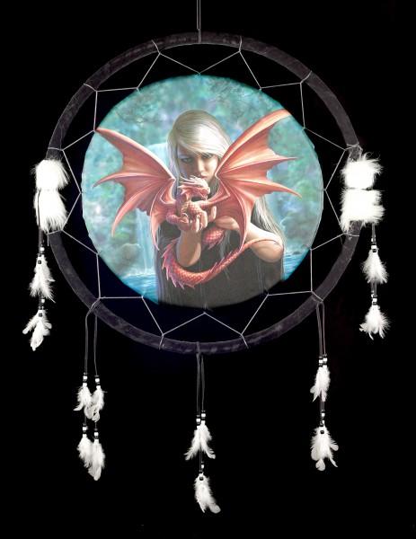 Großer Traumfänger mit Drache - Dragonkin