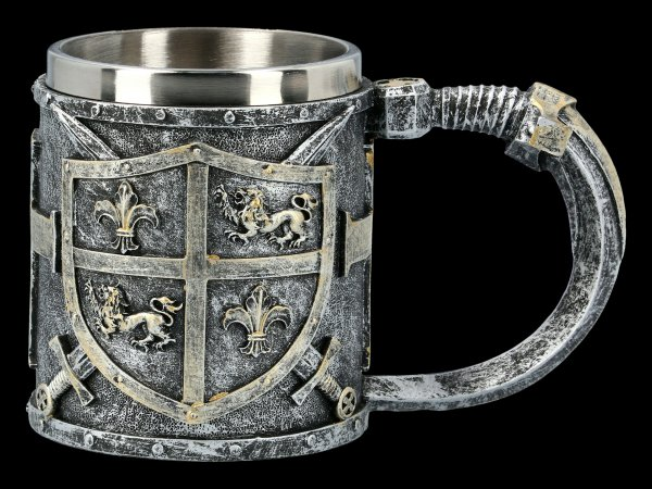 Mittelalter Krug - Löwen Wappen