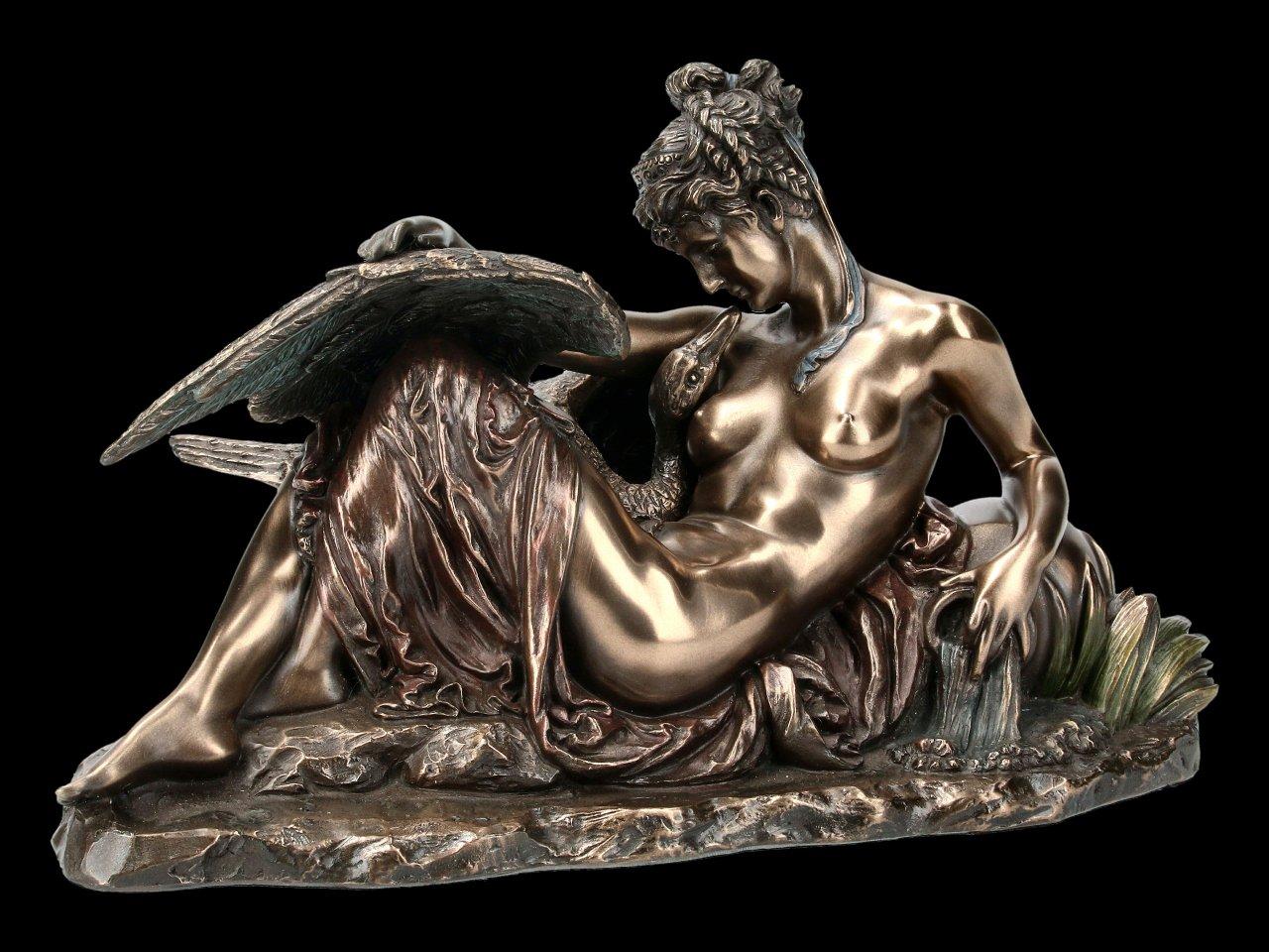 Leda and the Swan Figurine
