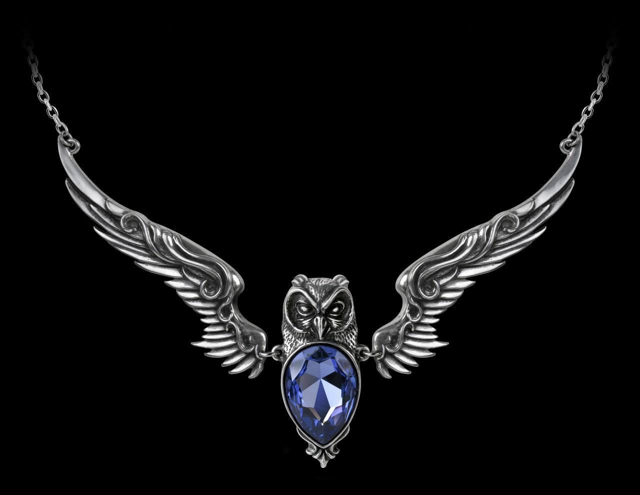 Alchemy Fantasy Necklace with Owl - Stryx
