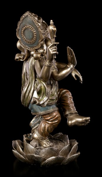 Ganesha Figur auf Lotusblüte - groß