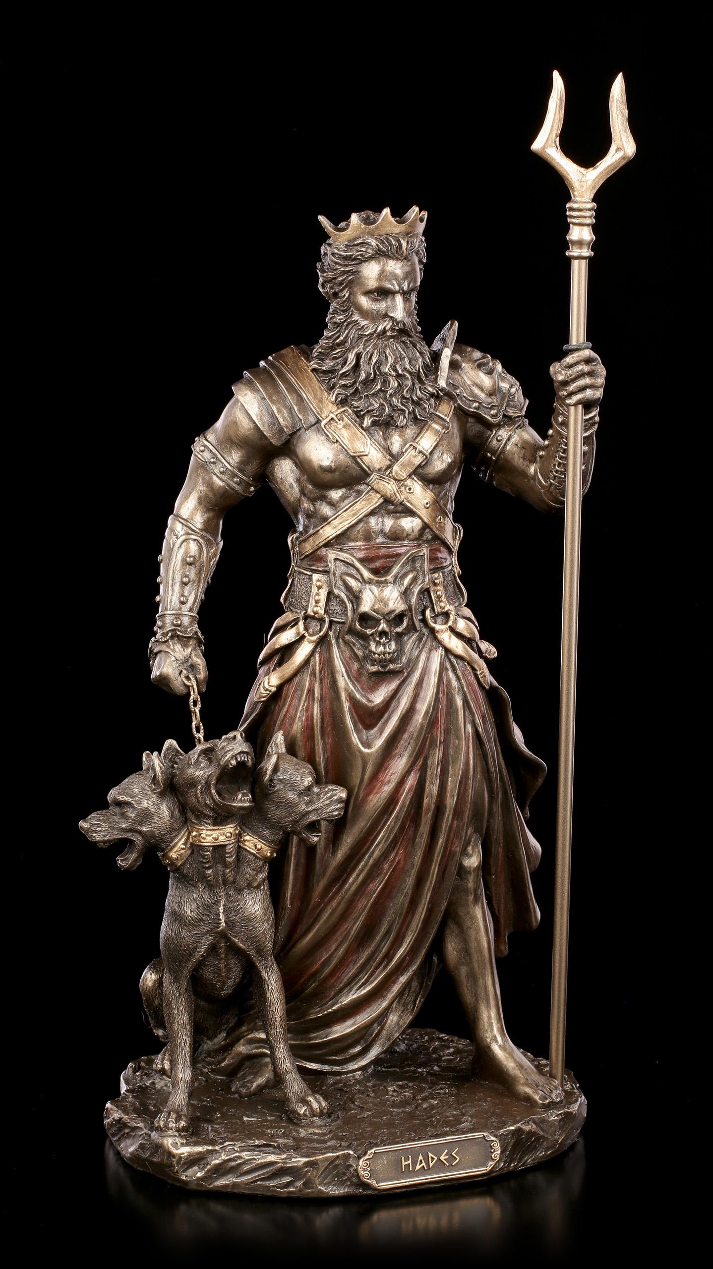 Gott Unterwelt Kerberos Höllenhund Veronese bronziert Hades Figur mit Zerberus