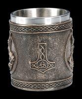 Viking Tankard - Thor with Hammer