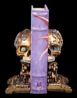Steampunk Cranial Skull Bookends Set