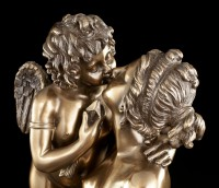 Engel Figur - Amor küsst Jungfrau
