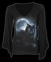 Langarmshirt Fantasy mit Katze - Mystical Moonlight