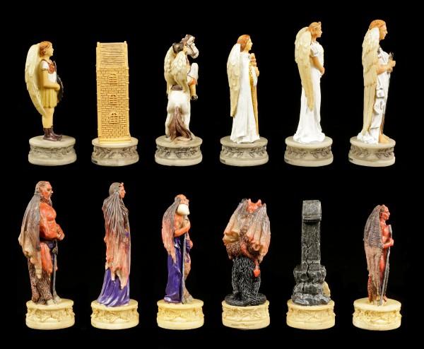 Schachfiguren Set - Engel vs. Teufel