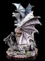 Drachen Figur - Quen und Ty auf Steinen