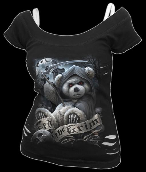 2in1 Damen Fantasy Shirt - Ted The Grim-Teddy