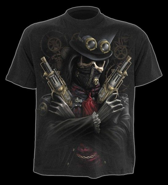 T-Shirt Skelett - Steampunk Bandit