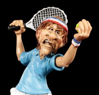 Tennis Player Figurine at Serve - Funny Sports