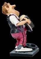 Funny Job Figur - Straßenmusikant mit Akkordeon
