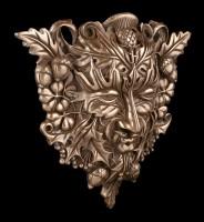 Celtic Forest Spirit Wall Plaque - Greenman bronzed