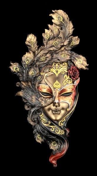 Venetian Mask - Peacock Feathers