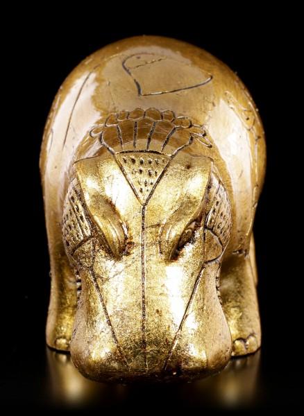 Ägyptische Nilpferd Figur - goldfarben