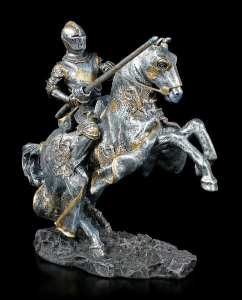 Ritter Figur auf Pferd mit Lanze