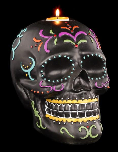 Mexikanischer Totenkopf Teelichthalter - Carnival of Dead