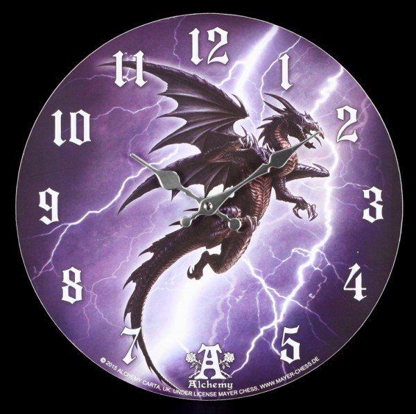 Wanduhr Drache - Lightning Dragon - Alchemy