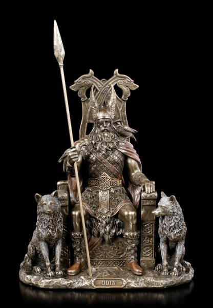 Odin Figurine - Germanic God Father on Throne